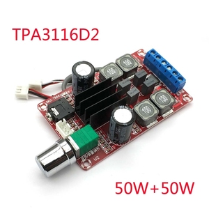 Image 1 - 2*50 w 디지털 앰프 보드 tpa3116d2 2 채널 스테레오 앰프 보드