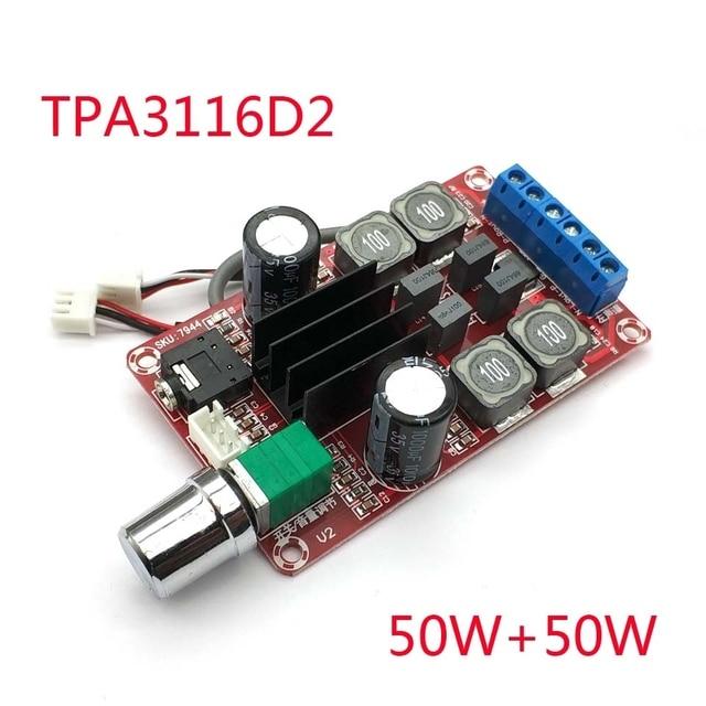 2*50 w 디지털 앰프 보드 tpa3116d2 2 채널 스테레오 앰프 보드