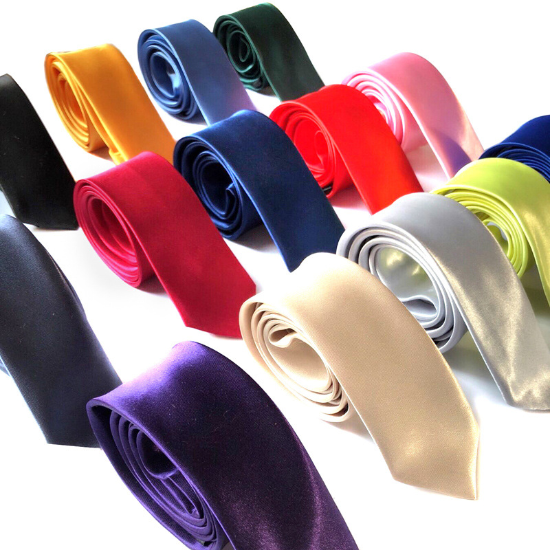Mens Fashion Tie Solid Color Necktie Gifts For Men Polyester Silk Wedding Tie Slim Casual Ties For Men Clothing Accessories