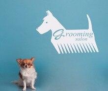Pets Beauty Salon Wall Decals Vinyl Art Design Poster Mural Pet Shop Decor Grooming Salon Logo Wall Stickers Interior Decor W581