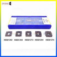 ZCC.CT XSEQ1202 XSEQ1203 XSEQ12T3 XSEQ1204 XSEQ12T4 10pcs/box YBG302CNC Carbide Milling Inserts Face And Side Cutter