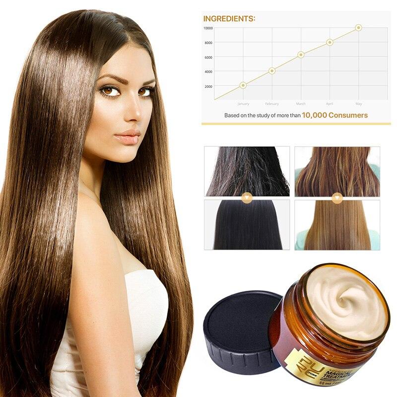 PURC 60ml Magical Treatment Mask 5 Seconds Repair Damage Restore Soft Hair For All Hair Types Keratin Hair Scalp Treatment TSLM1