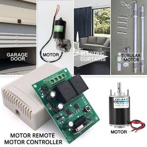 Image 2 - Controlador remoto de Motor de cortina eléctrica, tablero de receptor de relé rf DC 12V 10A y transmisor de largo alcance para Motor Tubular/garaje