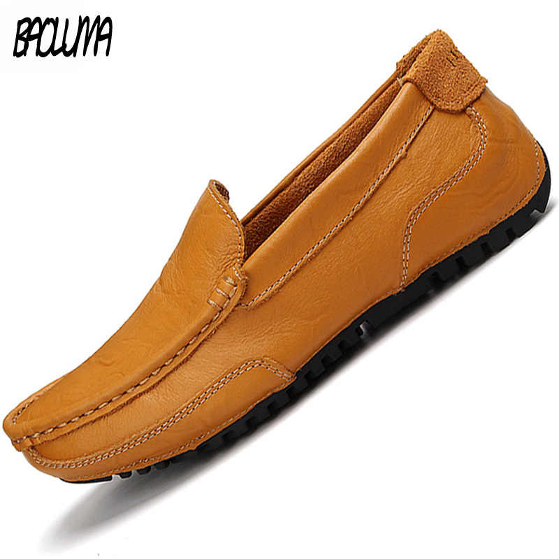 Mens Luxury Brand Shoes Leather Loafers