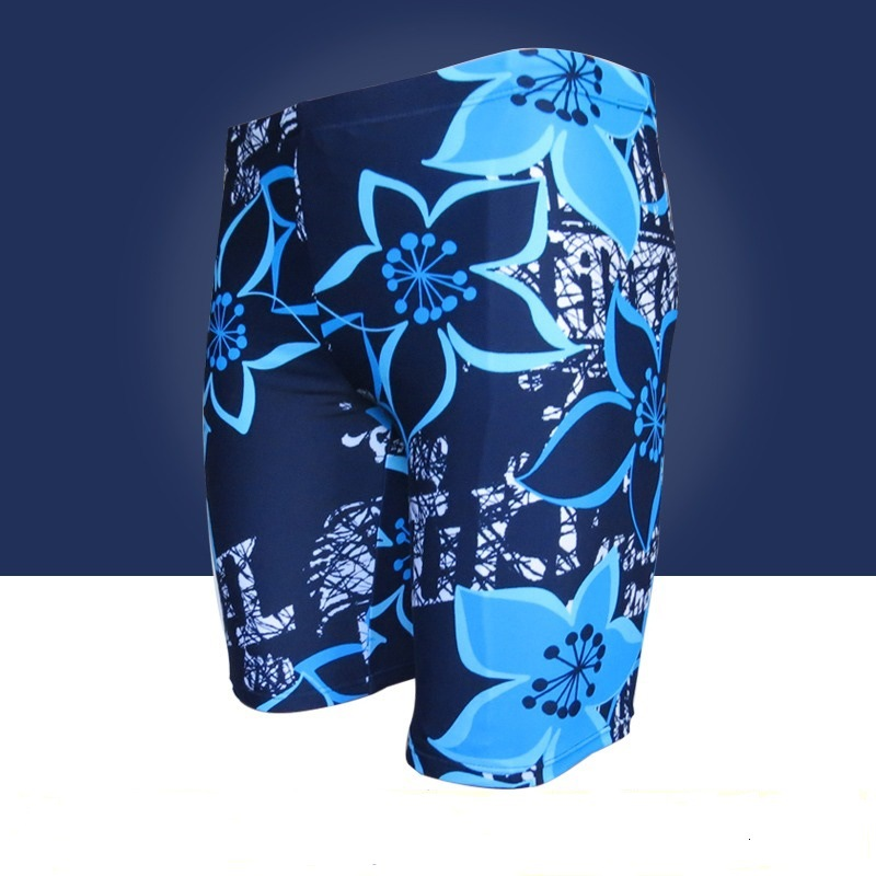 Plus-sized Extra Large Men Short Boxer Swimming Trunks Loose Comfortable High-waisted Oversized Swimming Trunks 300