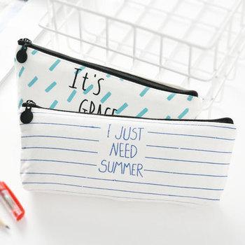 Nowe płótno uczeń piórnik dziewczyna pudełko na artykuły biurowe szkolne pudełko na artykuły biurowe brezentowa torba na długopis materiały dla studentów prezent dla studentów tanie i dobre opinie Papeteria posiadacze