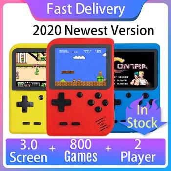 2020 новая Ретро Игровая приставка, 800 встроенных игр, поддержка геймпада, портативная 8-битная мини ручная видеоигра, плеер для детей, подарок