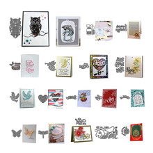 Beautiful House White Peace Pigeon Metal Cutting Dies Stencil Scrapbooking DIY Album Stamp Paper Blow A Song Angel Baby Shose(China)
