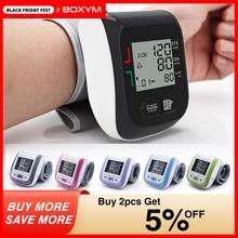 BOXYM Monitor de presión arterial Digital LCD para muñeca, tonómetro, esfigmomanómetro automático, tonómetro