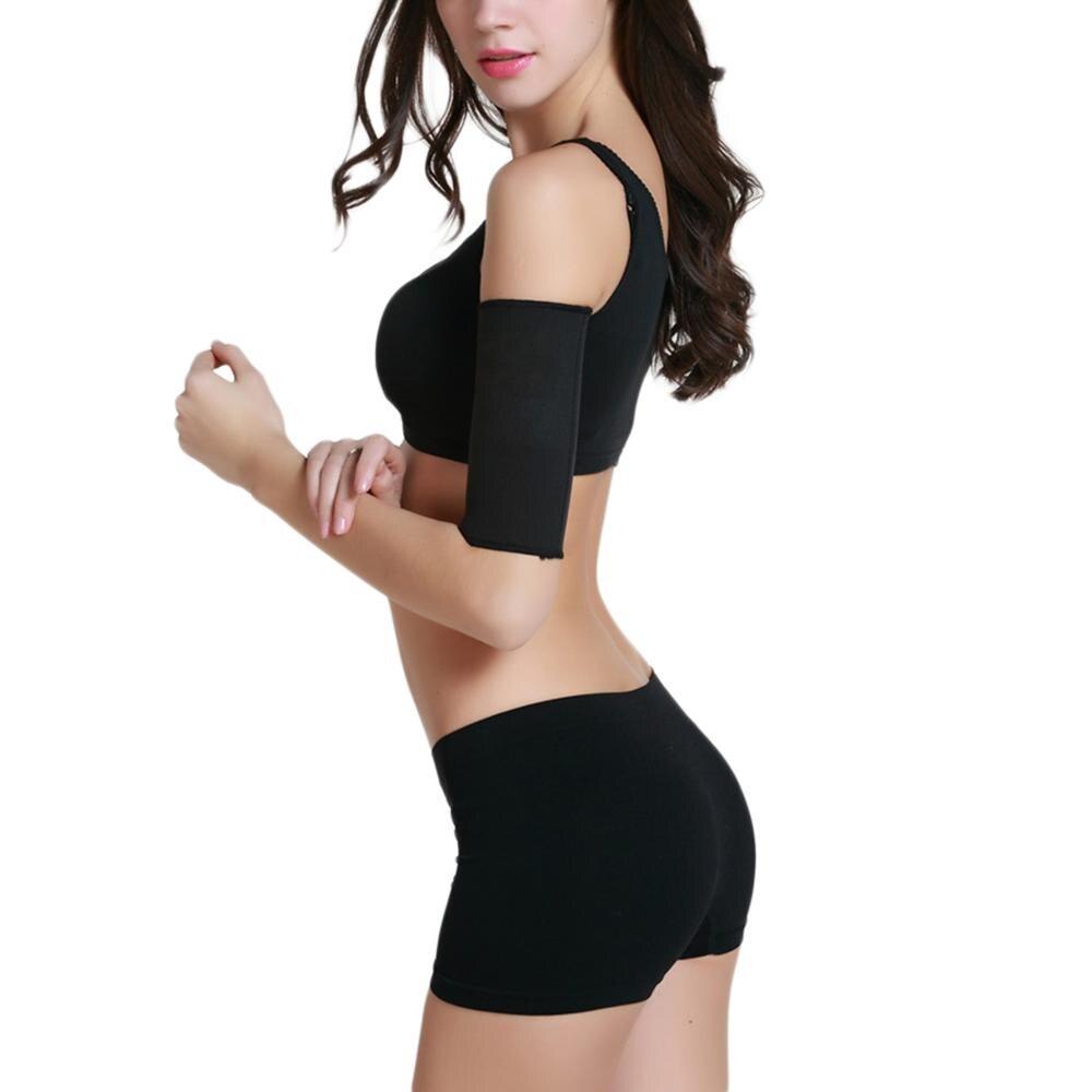 1 Pair Black Tone Up Sleeves Arm Shaping Sleeves Women Arm Warmers Elastic Shapewear Slimming