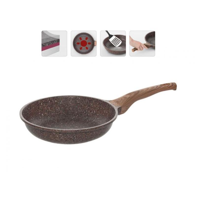 Frying Pan NADOBA, Grеta, 28 cm frying pan griddle nadoba grana 28 cm