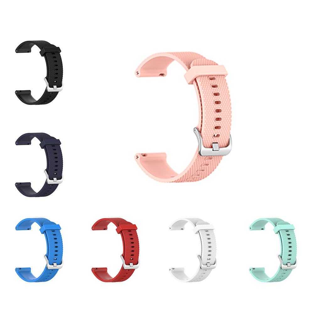 Silicone Watchband Wristband For Ticwatch C2 Version 18mm / Garmin Vivoactive 4S