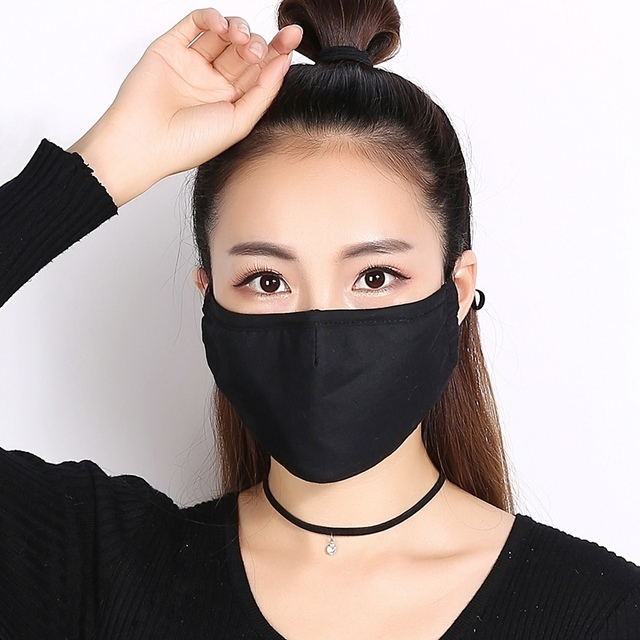 1pcs Reusable Washable Breathable Face Mask Cycling Running Facemask Anti Dust Windproof Air Purifying Face Mask +2 Filter 1