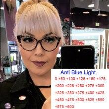 Gafas de lectura clásicas para mujer, anteojos de lectura con luz azul, antideslumbrantes, para hipermetropía, con aumento transparente, para ordenador, para esposas + 1