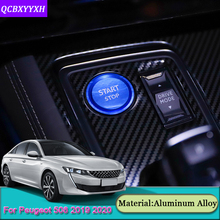 Car Styling Ignition Switch Cover Car Internal Stickers For Peugeot 508 2008 2019-2020 3008 4008 5008 2016-2019 208 e-208 2020