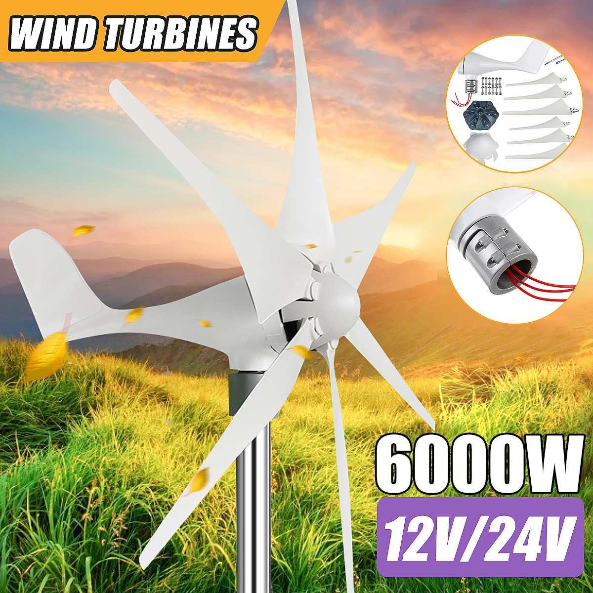 6 lâminas opção turbinas eólicas gerador poderoso