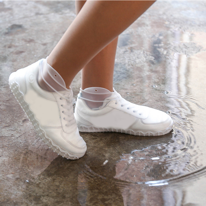 Waterproof Shoes Cover Silicone Non-Slip Men Rain Boots Shoes Protectors Case