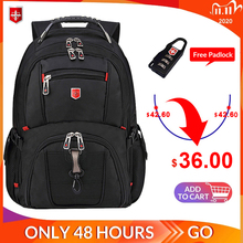 Swiss Mens Backpack 15.6/17 inch Computer Notebook School Travel Bags Unisex Large Capacity bagpack waterproof Business mochila