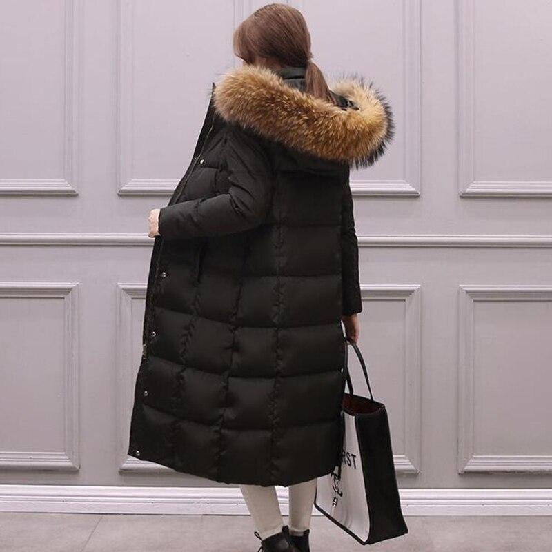 큰 진짜 모피 칼라 parka womens down jacket 2019 겨울 자켓 여성 두꺼운 스노우웨어 겨울 코트 여성 자켓 long outerwear-에서파카부터 여성 의류 의  그룹 2