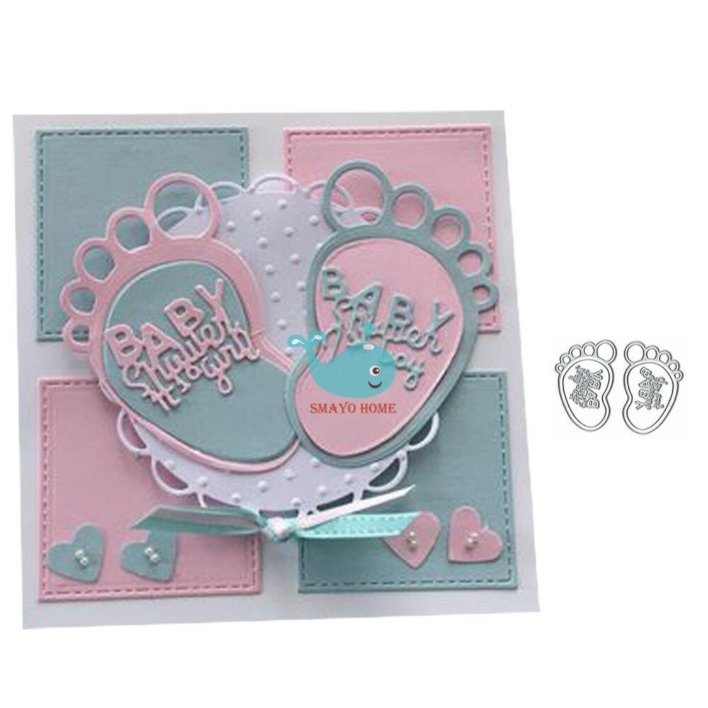 Детские ножные металлические режущие штампы для скрапбукинга, альбом, бумага, сделай сам, украшение для открыток, тиснение, новые Вырубные ш...