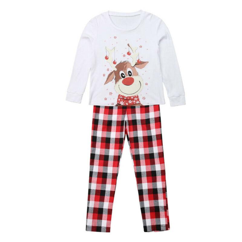 M-3XL От 6 месяцев до 9 лет; коллекция года; Семейные рождественские пижамы с принтом рождественского оленя; Семейные комплекты для взрослых, женщин и детей; рождественские пижамы; Семейный комплект