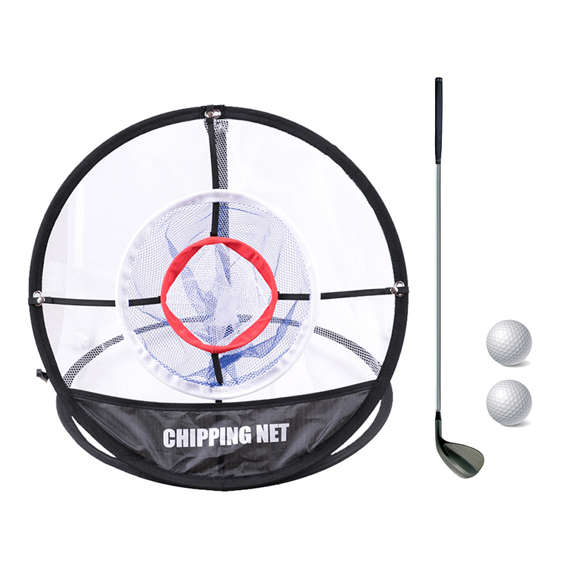 Golf Pop UP Indoor Outdoor Chipping Pitching Cages Mats Practice Easy Net Golf Training Aids Metal + Net Equipment #ED