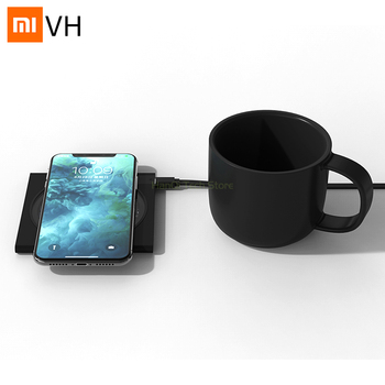 Xiaomi Mijia VH Wireless Charging Electric Heating Coasters Fast Charge Constant Temperature With Free Cup For Smart Home Use