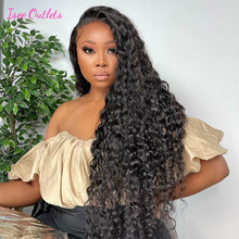 Peruvian Water Wave Wigs 4x4 Lace Closure Wigs Water Wave Lace Front Wigs For Women Human Hair Preplucked ISEE Hair Outlets Wig