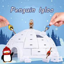 Board Building-Blocks Interactive-Game-Toy Penguin Gift Ice-Dome-House Party-Game Educational