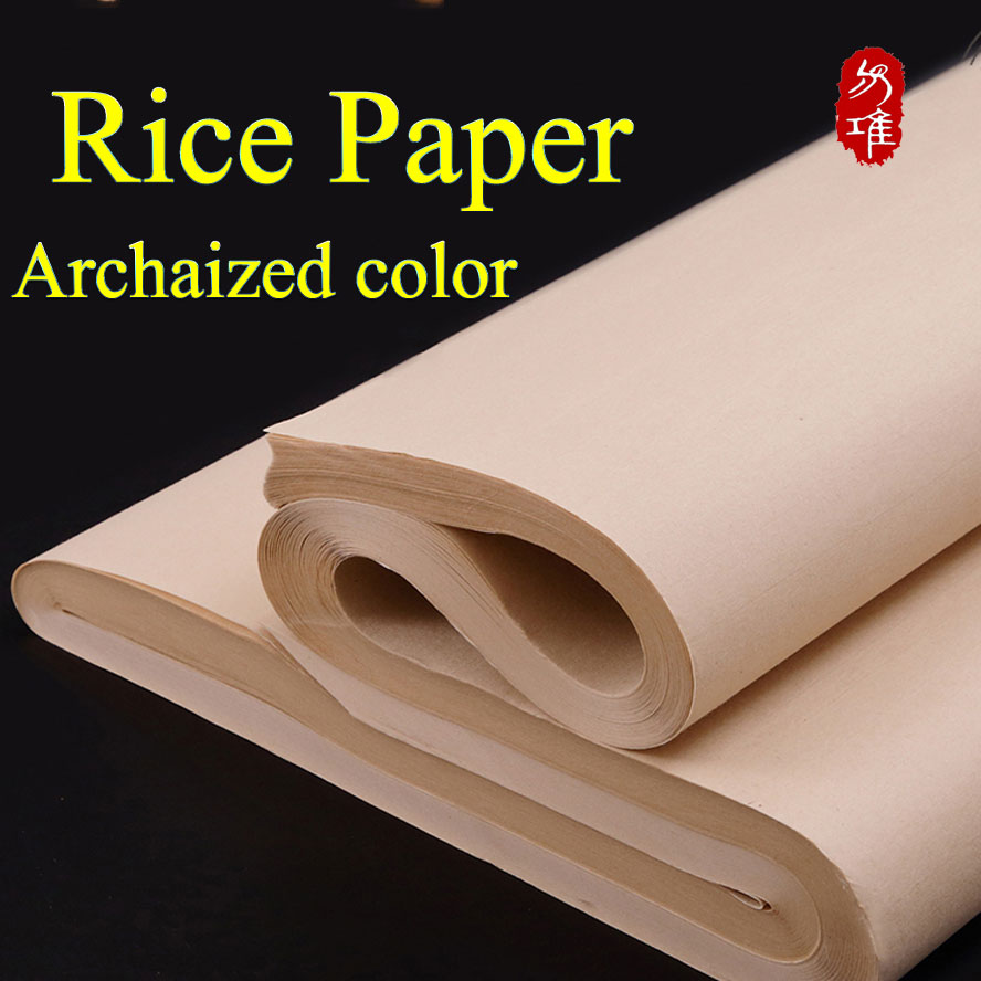 Chinese Archaize Color Rice Paper Chinese For Painting Calligraphy Paper For Painting Art Paper Supplies