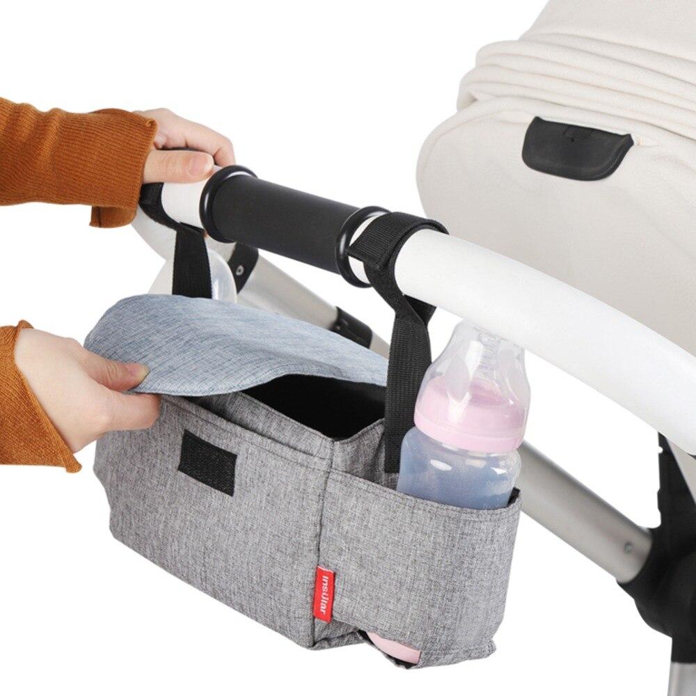 Baby Accessories Multifunctional Baby Stroller Bag Hanging Storage Pack Portable Bottle Bags Stroller Organizer
