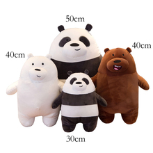30cm-50cm New Standing Bear Soft Filled Plush Animal Pillow Three Nude Panda White Brown Boy Girl Child Gift 186