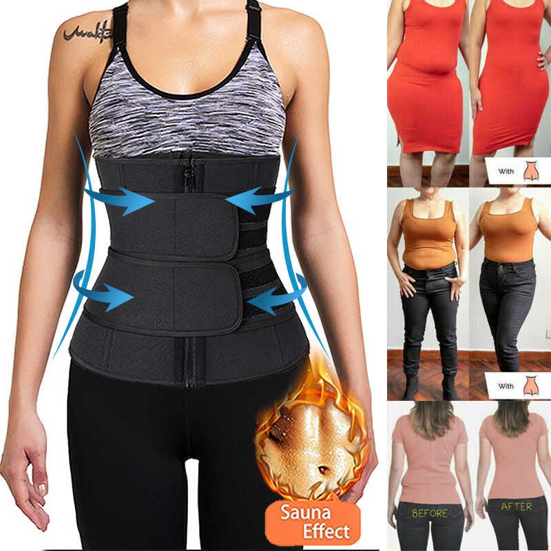 Neopreno Sauna Shaper cintura Trainer Corset sudor adelgazamiento cinturón para mujeres pérdida de peso compresión Trimmer entrenamiento Fitness