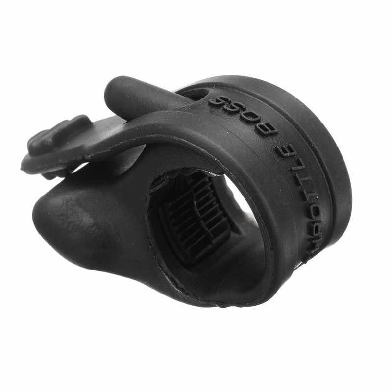 1pc Universal Schwarz Gummi Hand Grip Control Unterstützen Drosselklappensteuerung Motorrad Tempomat Unterstützen Rocker Krampf Stopper