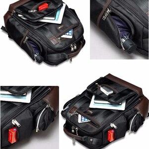 Image 5 - Americano famosa marca multi bolsos homens mochila grande capacidade fim de semana viagem de volta pacote de negócios dos homens super mochila masculino
