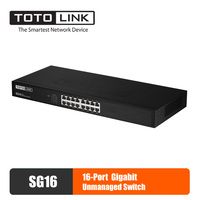 TOTOLINK SG16 Ethernet Switch Lan Hub 16 port Fast Gigabit Network Switch Duplex Exchange