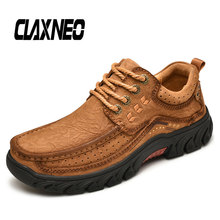 Buy CLAXNEO Man Shoes Genuine Leather Casual Shoe Autumn Male Walking Footwear Handmade Men Leather Shoe directly from merchant!