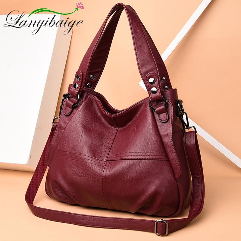 LANYIBAIGE Luxury Designer Handbags High Quality Soft Leather Bags Ladies Corssbody Hand Bags For Women Shoulder Bag Bolsas