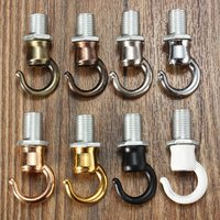 1pcs 10mm Thread M10 Retro Antique Vintage Metal Ceiling Rose Light Chandelier Hook With Screw Fittings Opening Smooth Style