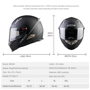 Image 5 - NENKI אופנוע מלא פנים קסדת Moto רכיבה ABS חומר מוטוקרוס קסדת אופנוע ECE הסמכה Casco Moto #