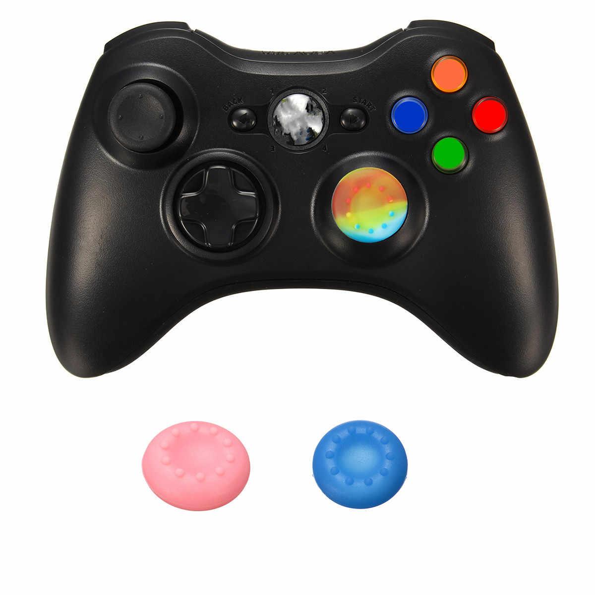 1pc ジョイスティックキャップシリカゲル XBOXONE のためのキャップ/360/PS4/PS3 コントローラゲームアクセサリーブルー /ピンク