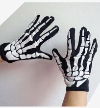 1 Pair Halloween Cosplay Gloves Horror Skull Claw Bone Skeleton Goth Racing Full  Party Accessories