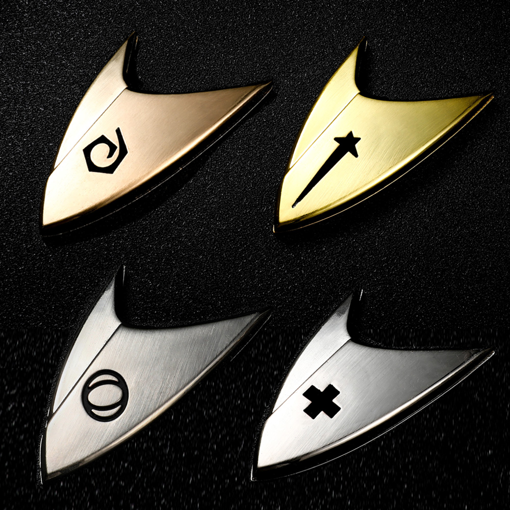 Deluxe Star Cosplay Trek Badge Cosplay Starfleet Pin Command Engineering Science Medical Division Metal Brooch Badges Props
