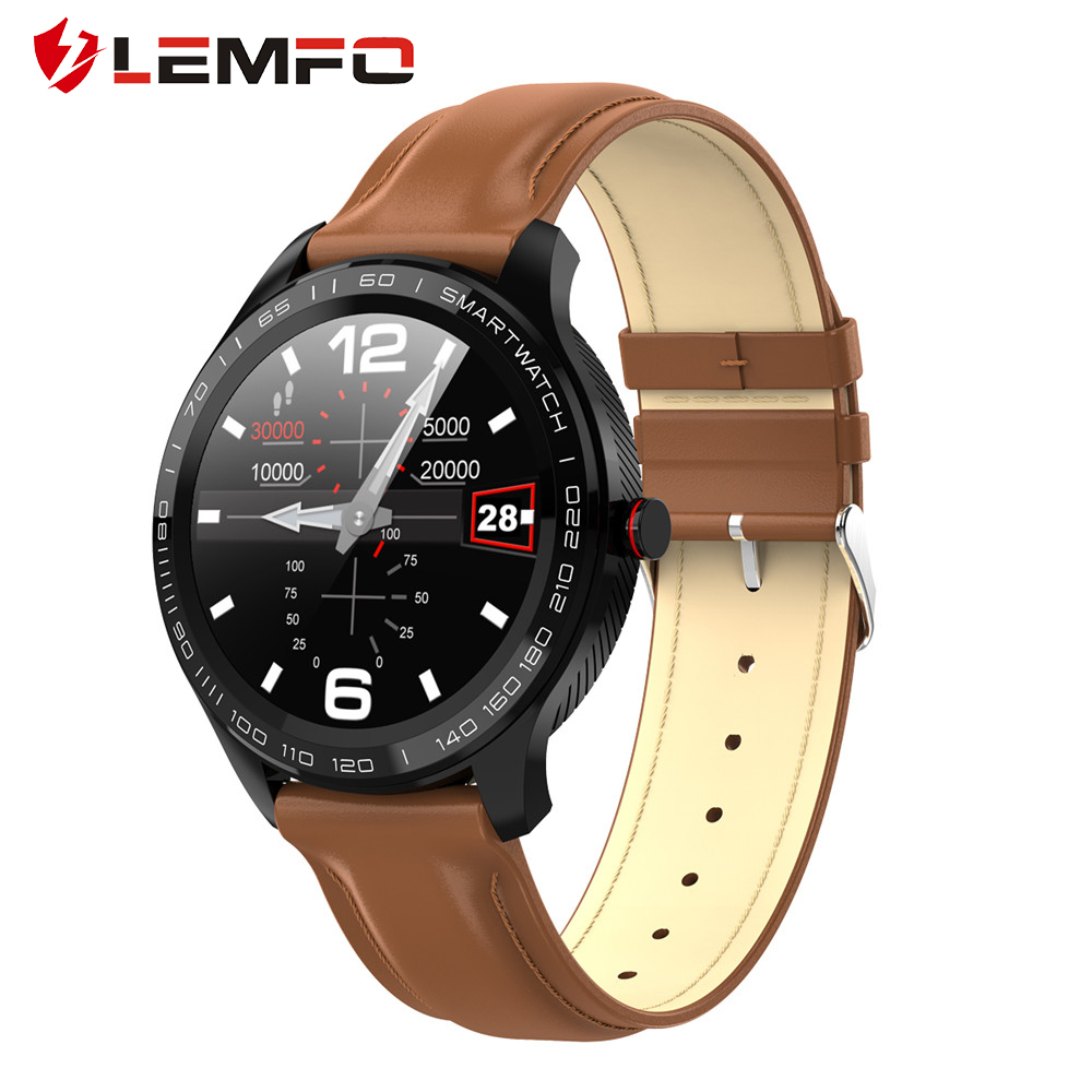 LEMFO L9 PCG + ECG Smart Watch Heart Rate Call Reminder Full Touch Smart Watch IP68 Waterproof Watch for Men for Android IOS|Smart Watches|   - AliExpress
