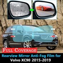 Capa completa película protetora para volvo xc90 xc 90 2015 2016 2017 2018 2019 retrovisor à prova de chuva anti-nevoeiro acessórios do carro adesivos
