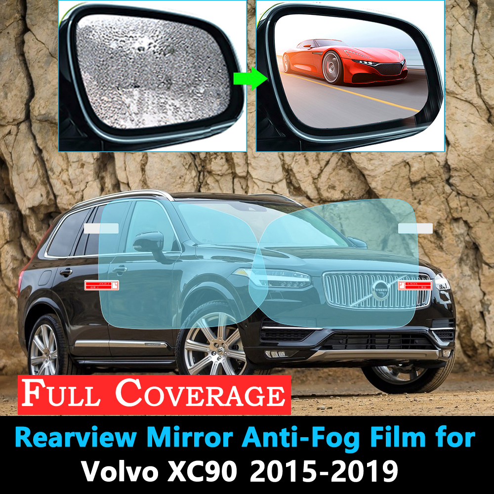 Full Cover Protective Film for <font><b>VOLVO</b></font> XC90 <font><b>XC</b></font> <font><b>90</b></font> 2015 2016 <font><b>2017</b></font> 2018 2019 Rearview Rainproof Anti-Fog Accessories Car Stickers image