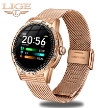 LIGE 2020 New Smart Watch Women Waterproof Smart Watch Blood Pressure Heart Rate Monitor Relogio Smartwatch For Android iOS