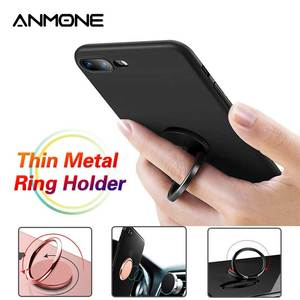 Mobile Phone Holder Bracket Metal Buckle Finger Ring 360 Degrees Rotating Multi-Function Portable Socket Desk Stand Support