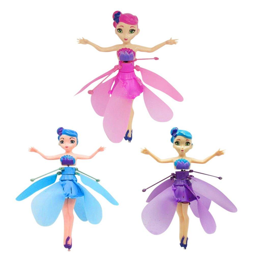 Xiaofeixian Induction Aircraft Toys Flower Fairy Xiaohuangren Suspension Luminous Compact Children'S Toys
