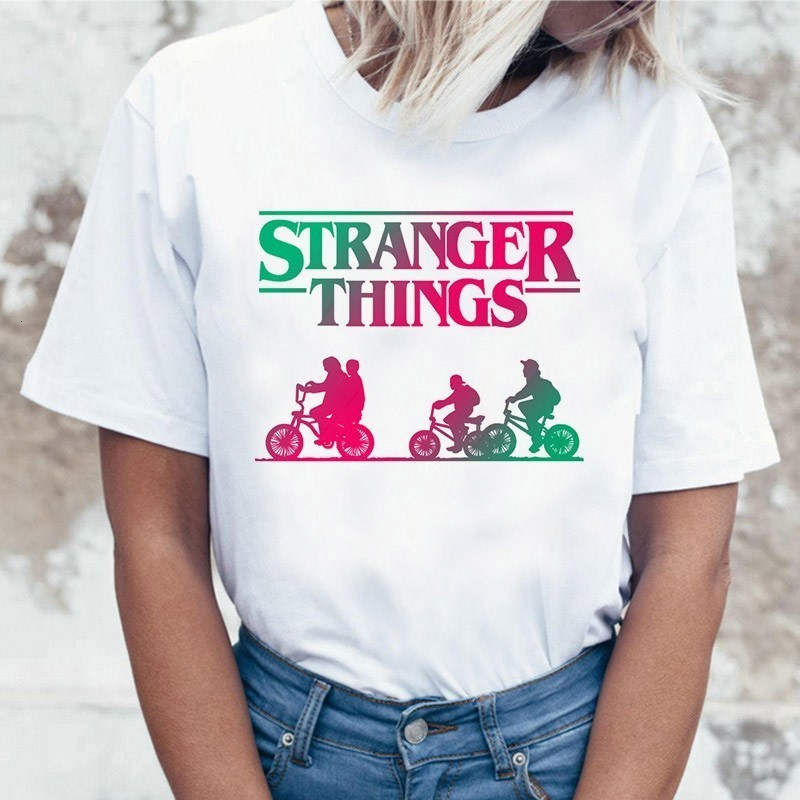 Stranger Things 3 Funny Tshirt Women Eleven Cartoon Printed T-shirt Upside Down Female Shirt Harajuku Ullzang Top Tees